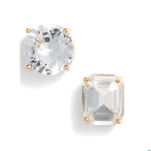 Kate Spade ♠️ Crystal Mismatched Stud Earrings